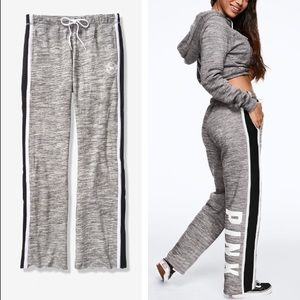 💕VS PINK GREY & BLACK LOGO BOYFRIEND PANTS